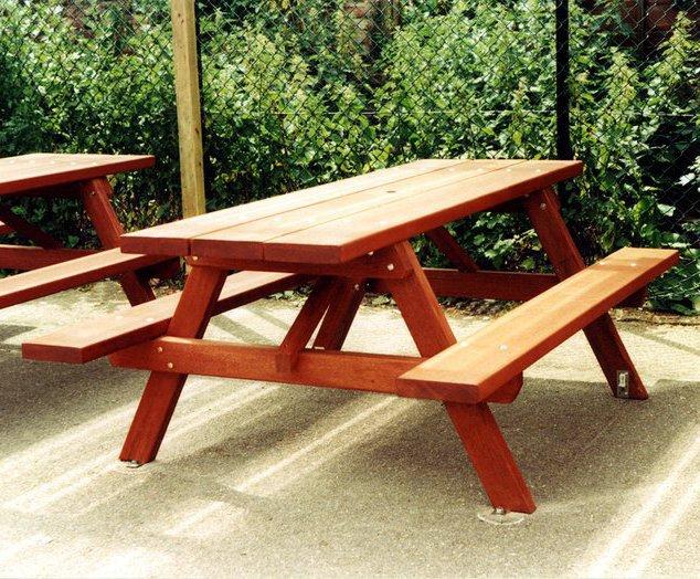 Fabulous Woodland T63A Hardwood Picnic Table Neptune Street Spiritservingveterans Wood Chair Design Ideas Spiritservingveteransorg