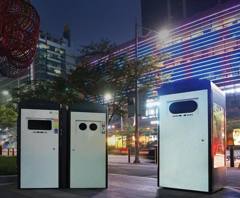 Clean Cube solar energy compaction bin