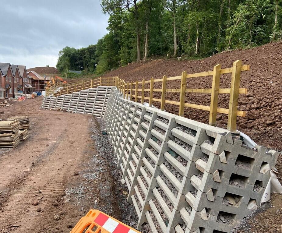 Andacrib Concrete Crib Retaining Wall For Dunedin Homes Phi Group Esi External Works