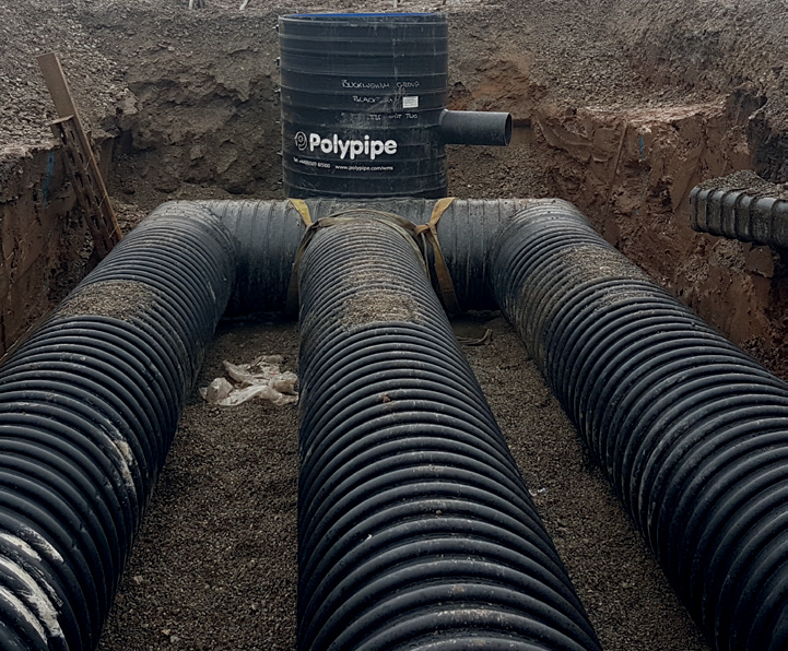 Stormwater and wastewater attenuation for new rail depot