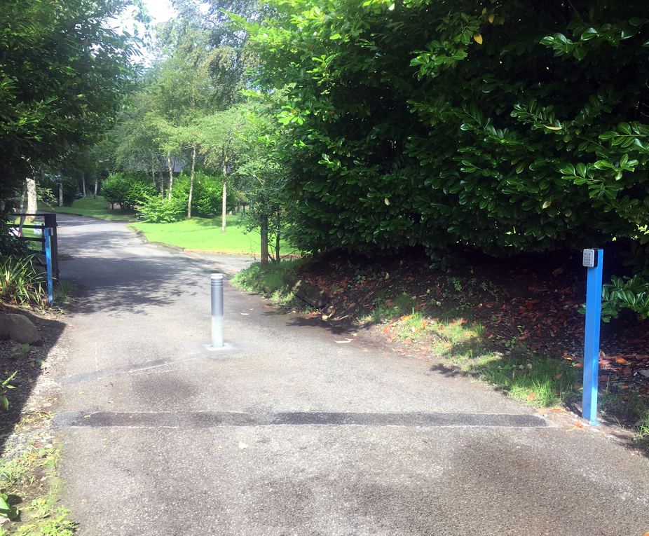 Automatic bollards control access at Cameron House Hotel