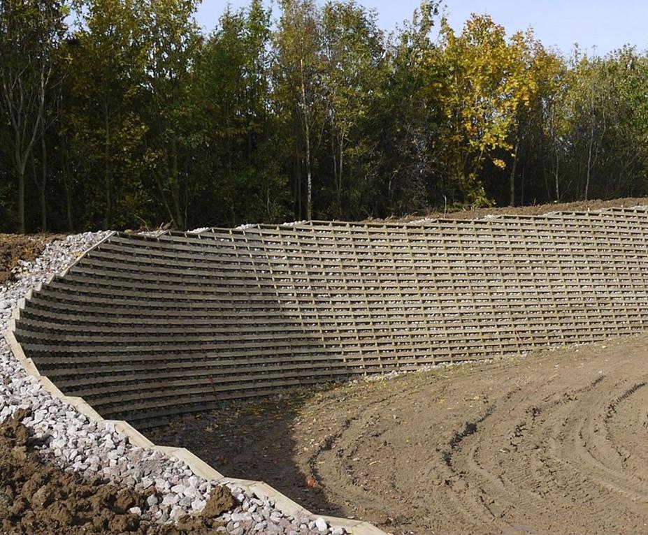 Timbalok timber crib retaining wall | Ruthin Precast