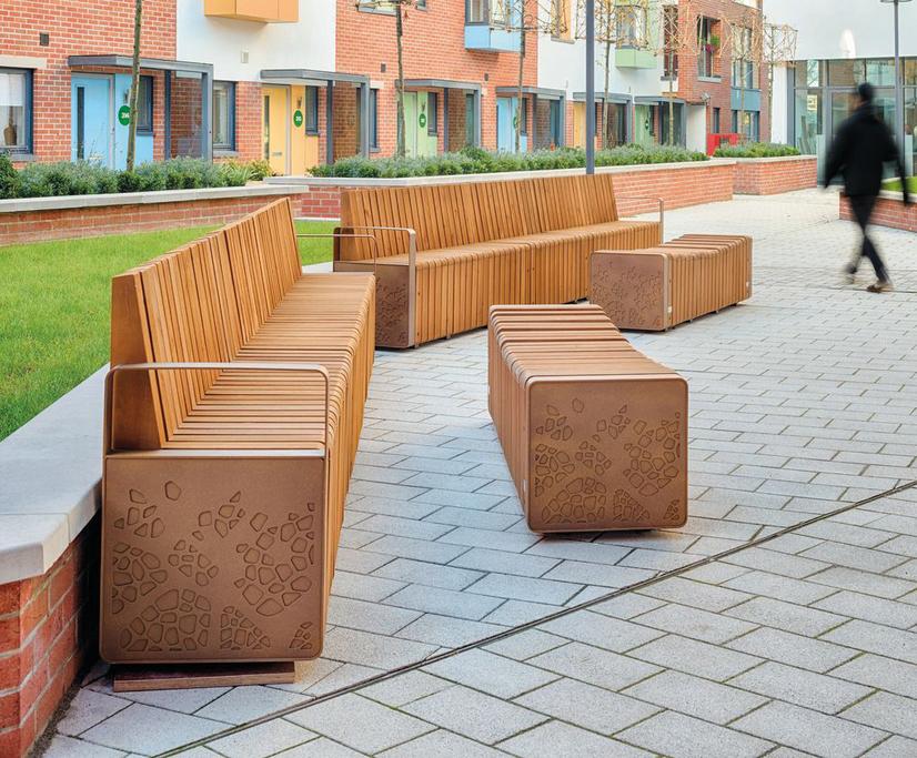 Natural Elements street furniture – Paintworks, Bristol