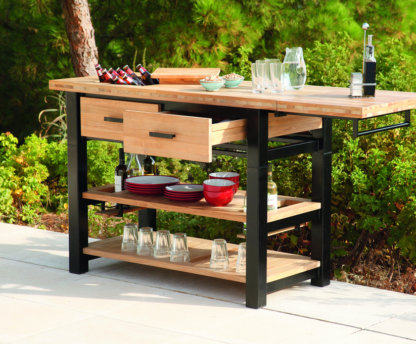 Titan Teak Outdoor Serving Table