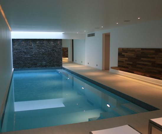 Underground Swimming Pool Designs underground swimming pool with small waterfall design ideas and concrete tiles ideas Underground Pool Chelsea Town House
