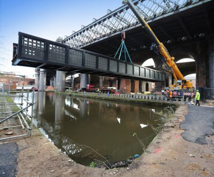 Vierendeel Truss Bridge Potato Wharf Manchester Cts