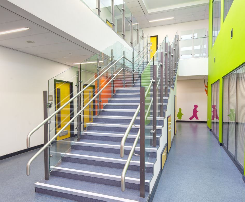 Steel handrails and balustrades for new primary school