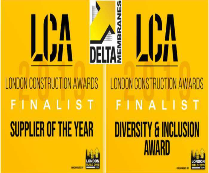 Delta shortlisted twice in London Construction Awards