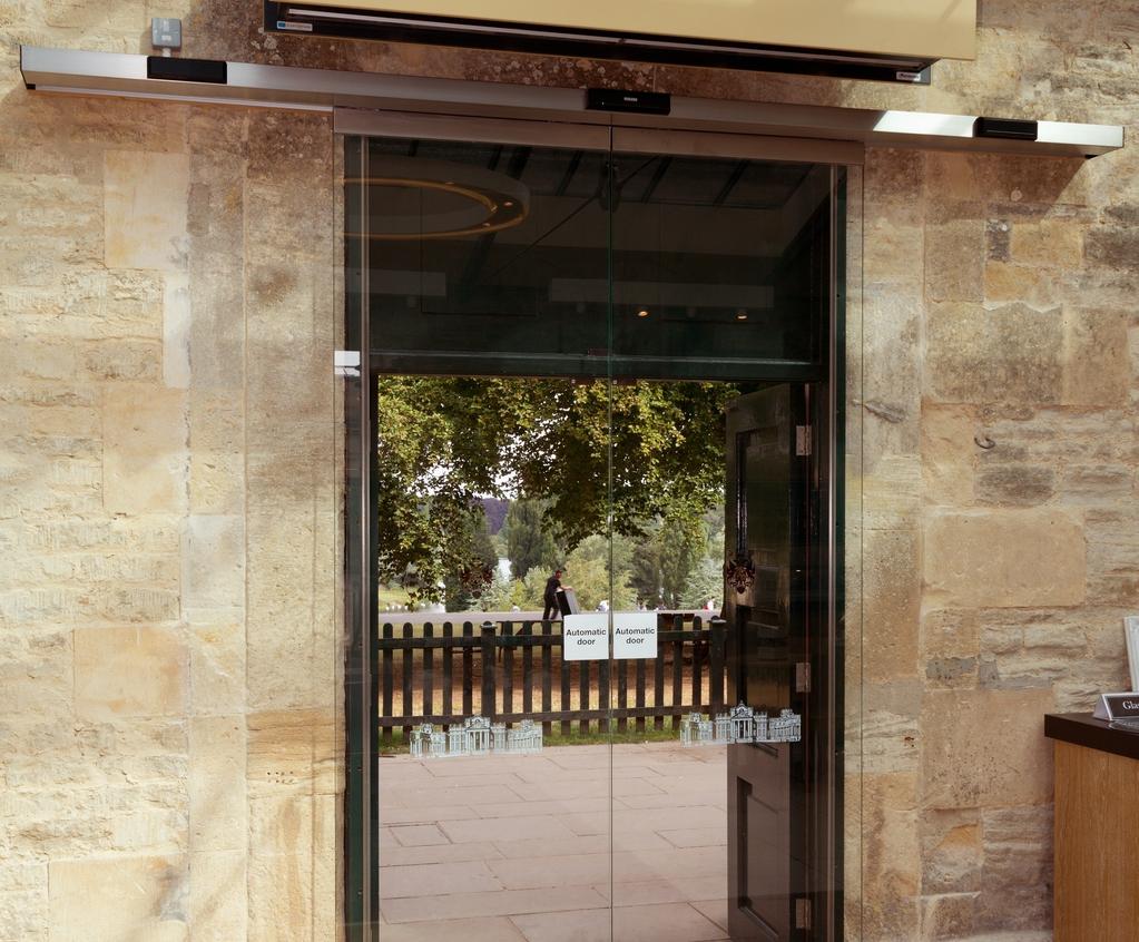 Automatic glass sliding doors for blenheim palace geze uk esi slimdrive sl automatic glass sliding doors planetlyrics Image collections