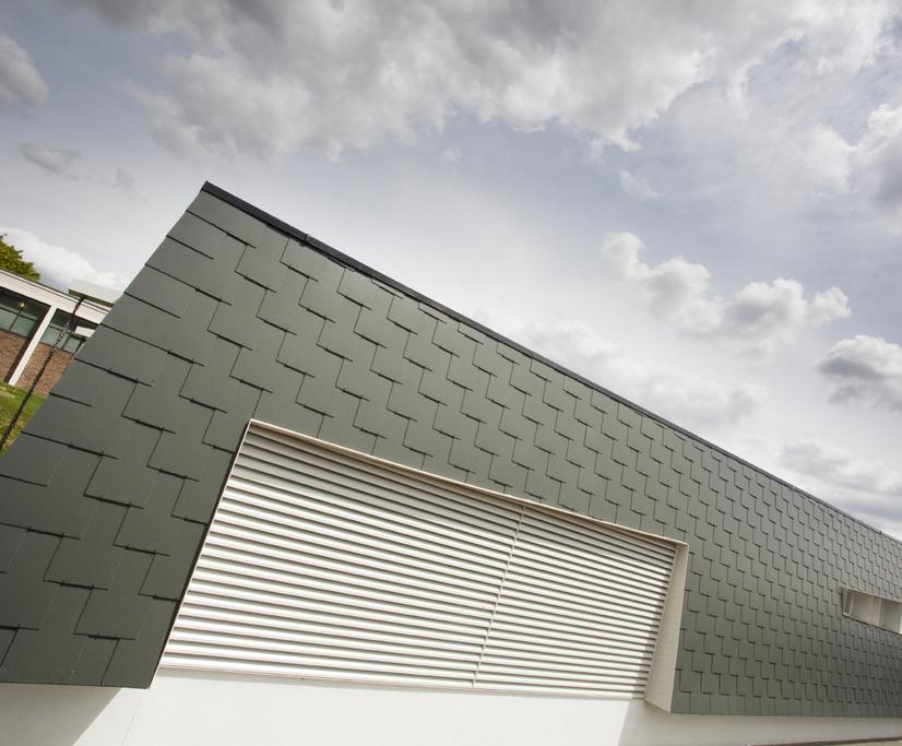 Fibre cement slate cladding - Police Training Centre