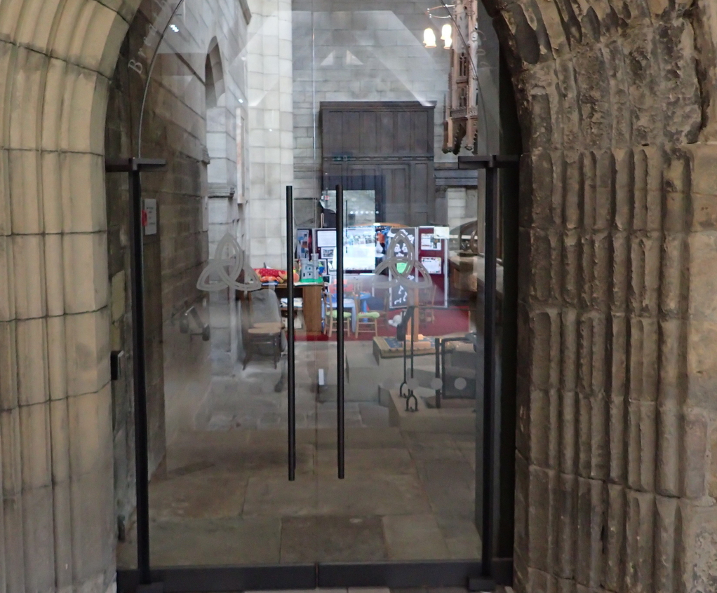 TORMAX automatic swing doors Hexham Abbey & Historic doors automated with invisible operators | TORMAX United ...