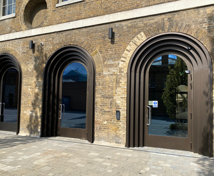 Concealed door drive for Grade II listed building