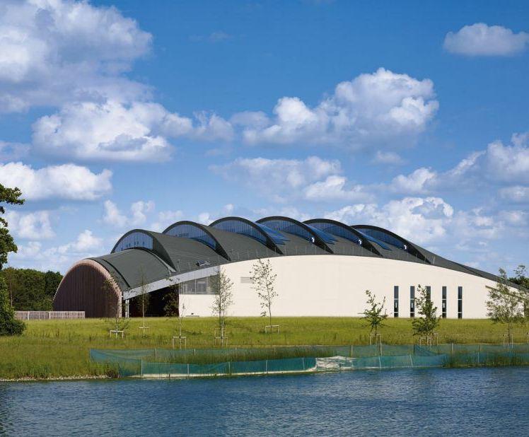 Zinc Used For University Of Cambridge Sports Centre Roof Rheinzink Esi Building Design
