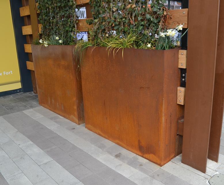 bowden corten steel planters