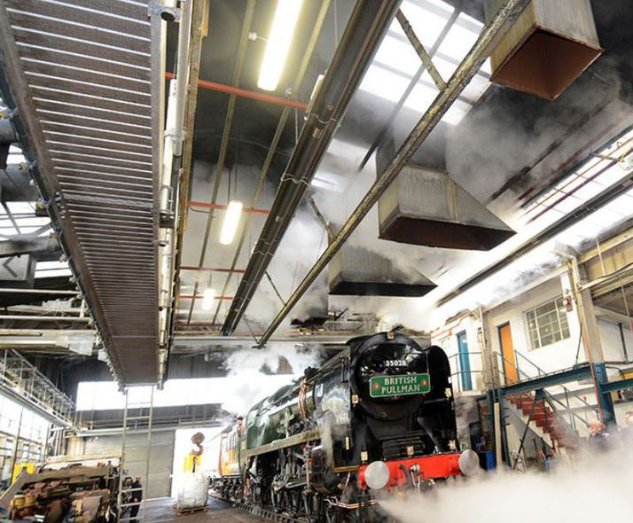 Heating the Orient Express maintenance shed