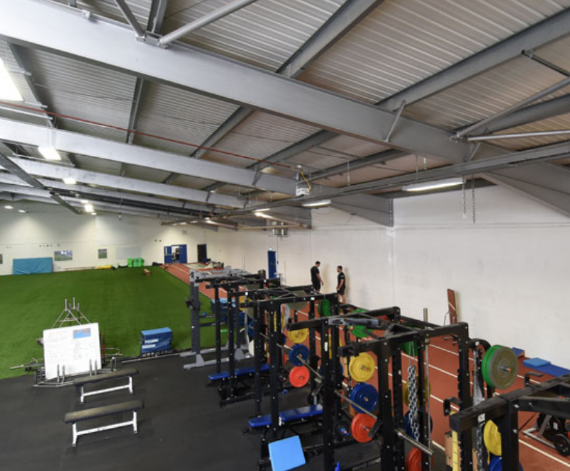 Radiant heating system for rugby club facilities