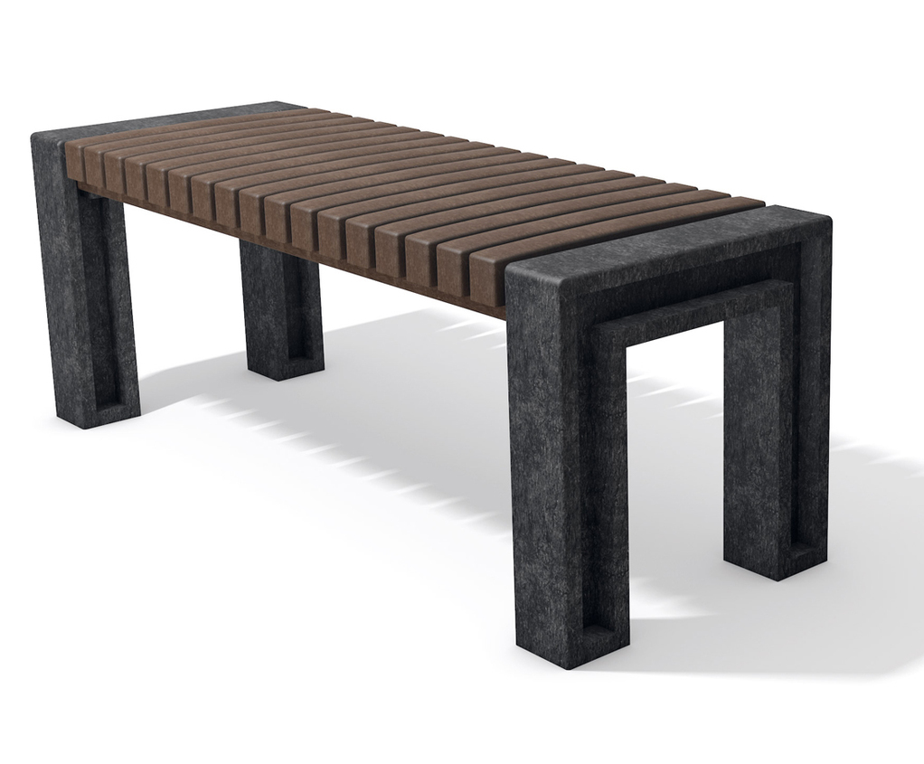 Ueno recycled plastic outdoor bench