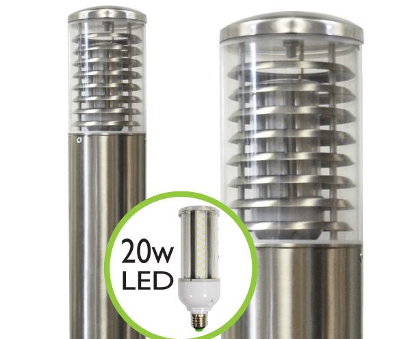 Stelled commercial led bollard light lumena lights esi external stelled commercial led bollard light mozeypictures Choice Image