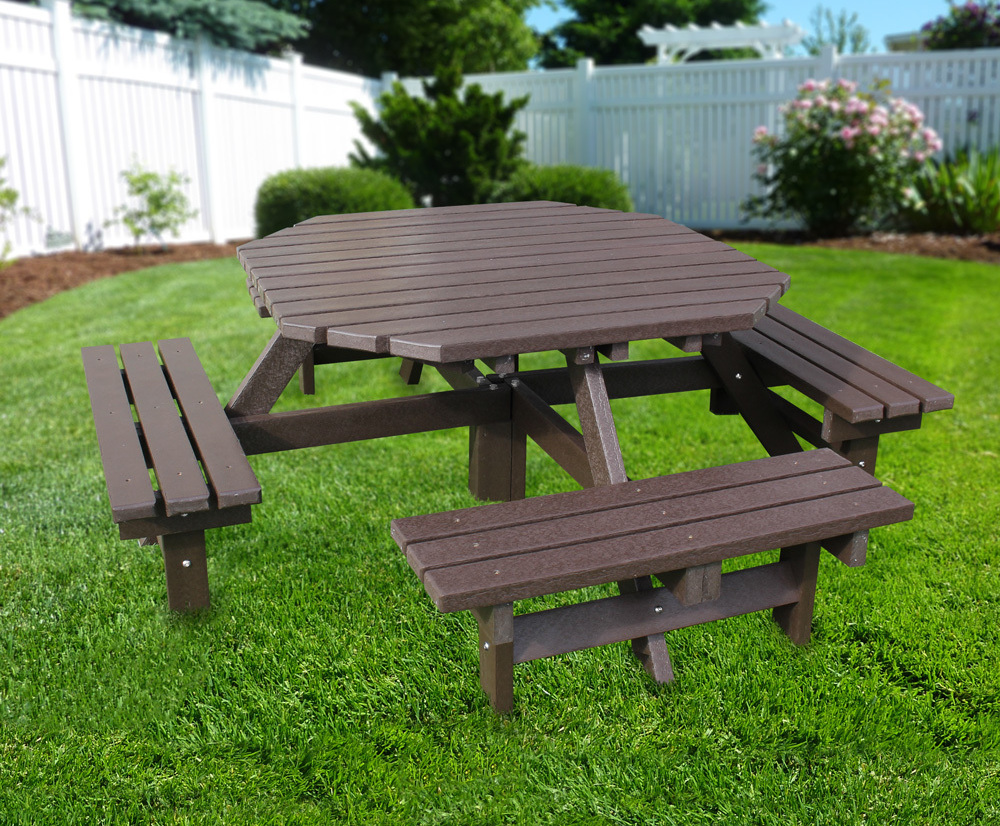 Recycled Plastic Octagonal Picnic Table Seats NBB - Picnic table seats 8