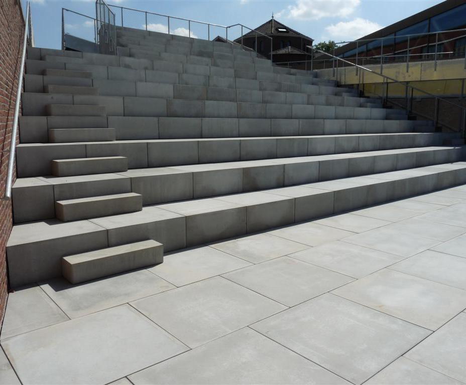 custom concrete steps and slabs hasselt university