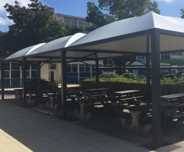 Sheltered canopies for school outdoor eating area & Sheltered canopies for school outdoor eating area | Zenith Canopy ...