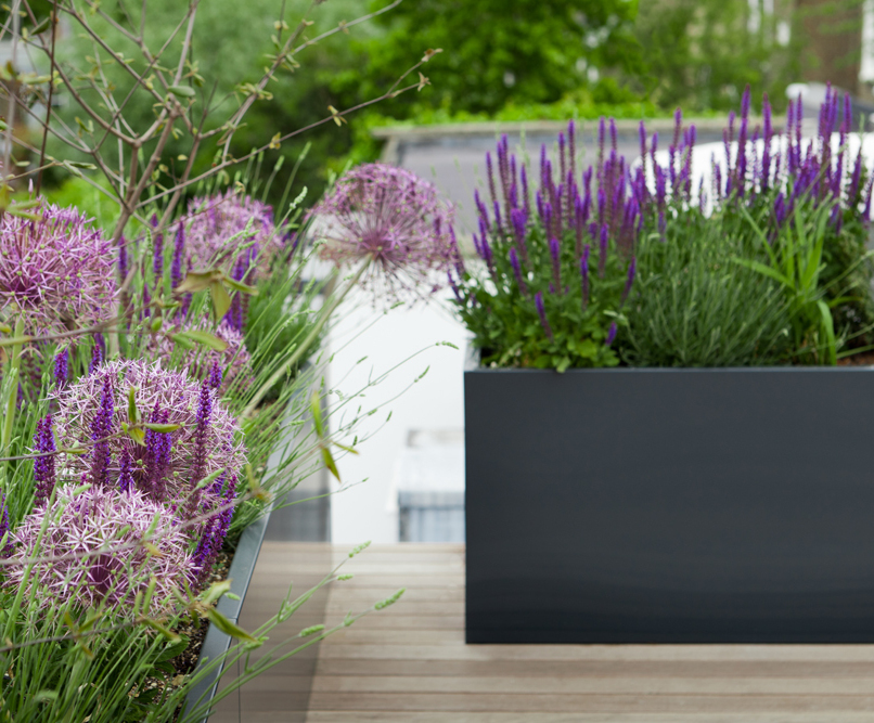 interesting planter planters on outdoor trough