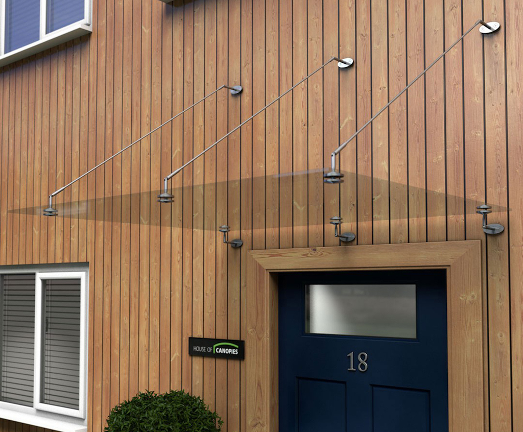 Type P glass and stainless steel door canopy | House of