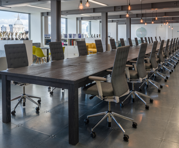 Bespoke sharing tables for Thames work spaces