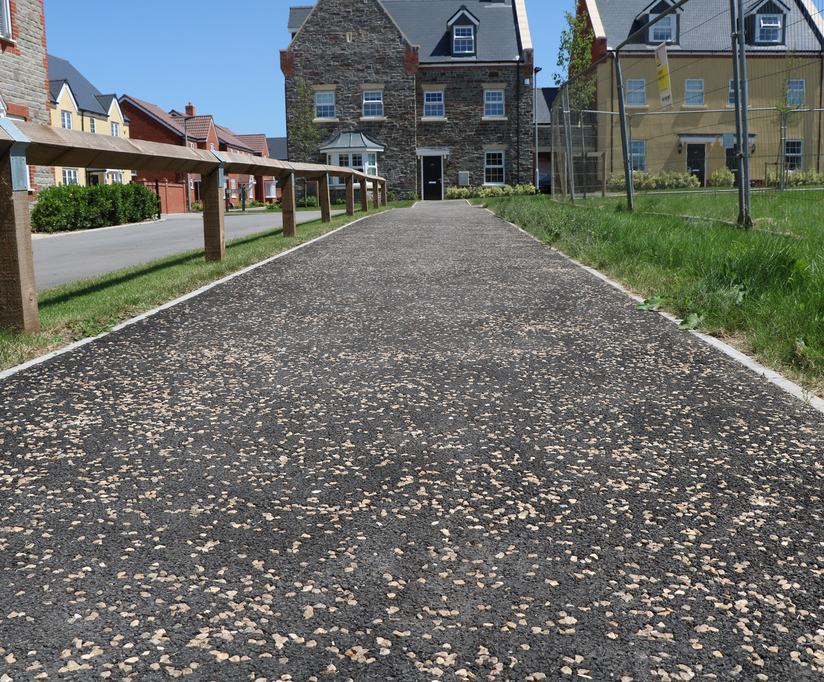 ChipTex bound surfacing for residential development