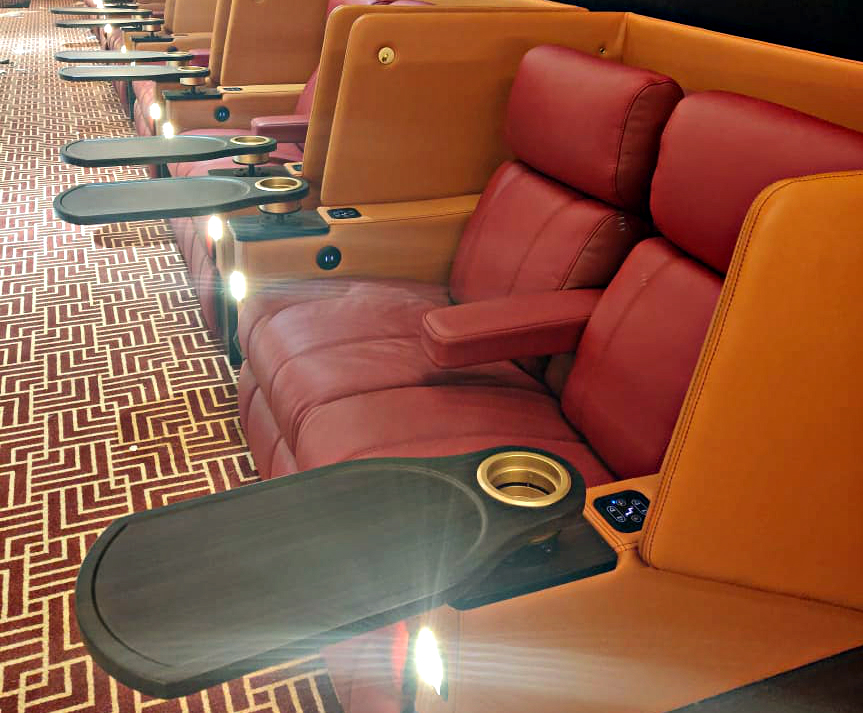 Luxury recliner cinema seating for PVR film company | Ferco
