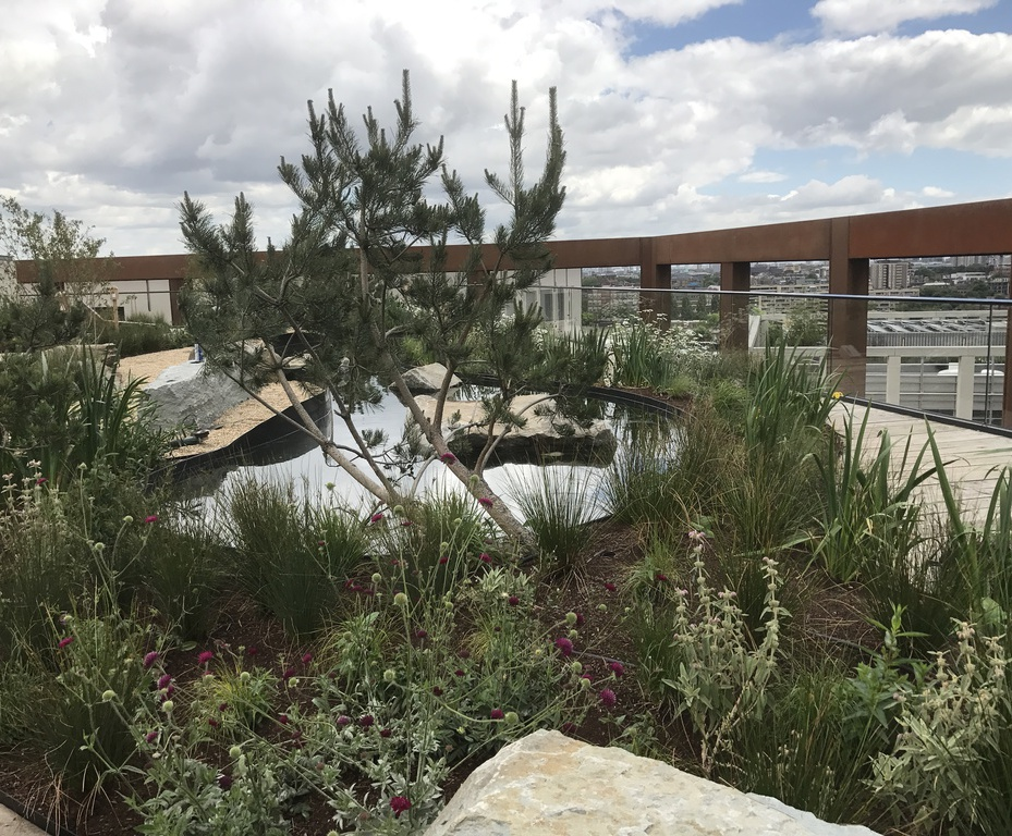 Roof garden materials for Four Pancras Square
