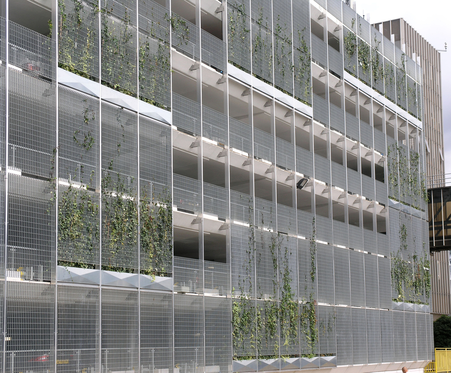 Green wall cladding to MSCP, New Covent Garden