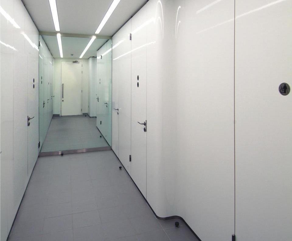 Bespoke Façade Flush washroom for corporate HQ