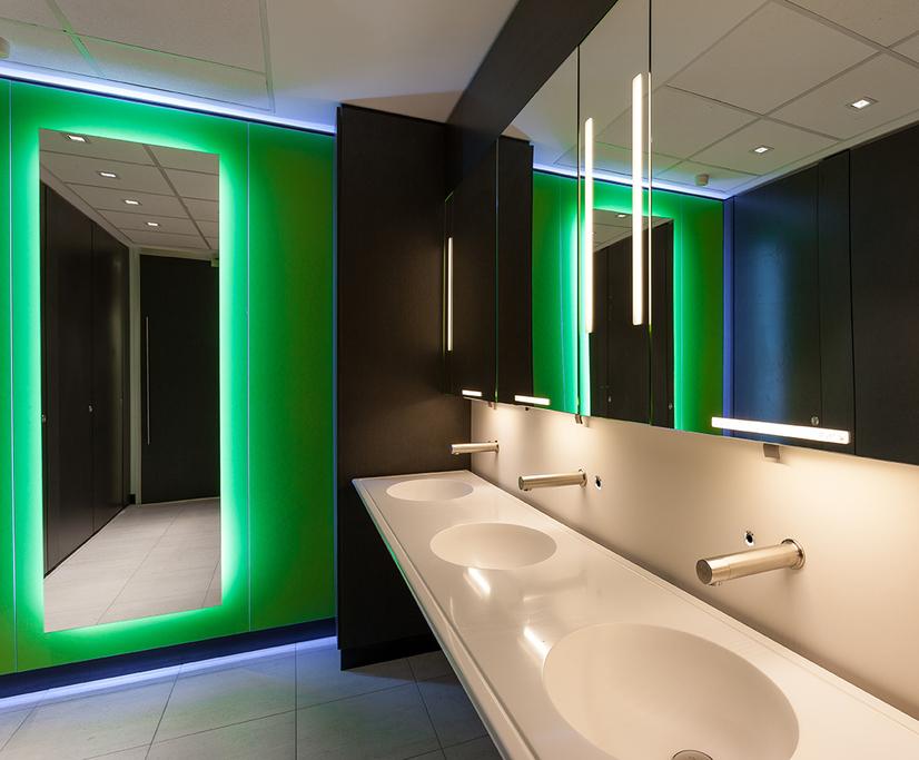 Upgraded washrooms - L'Oréal head office