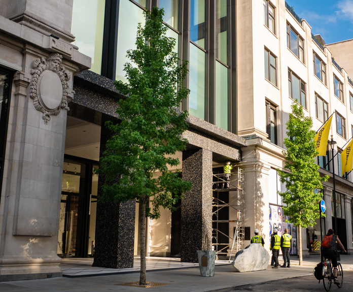1790db96c801 Tree pit and grilles help revamp Selfridges entrance