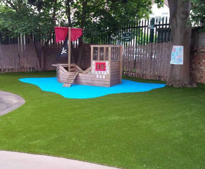 From school waste ground to artificial grass playground