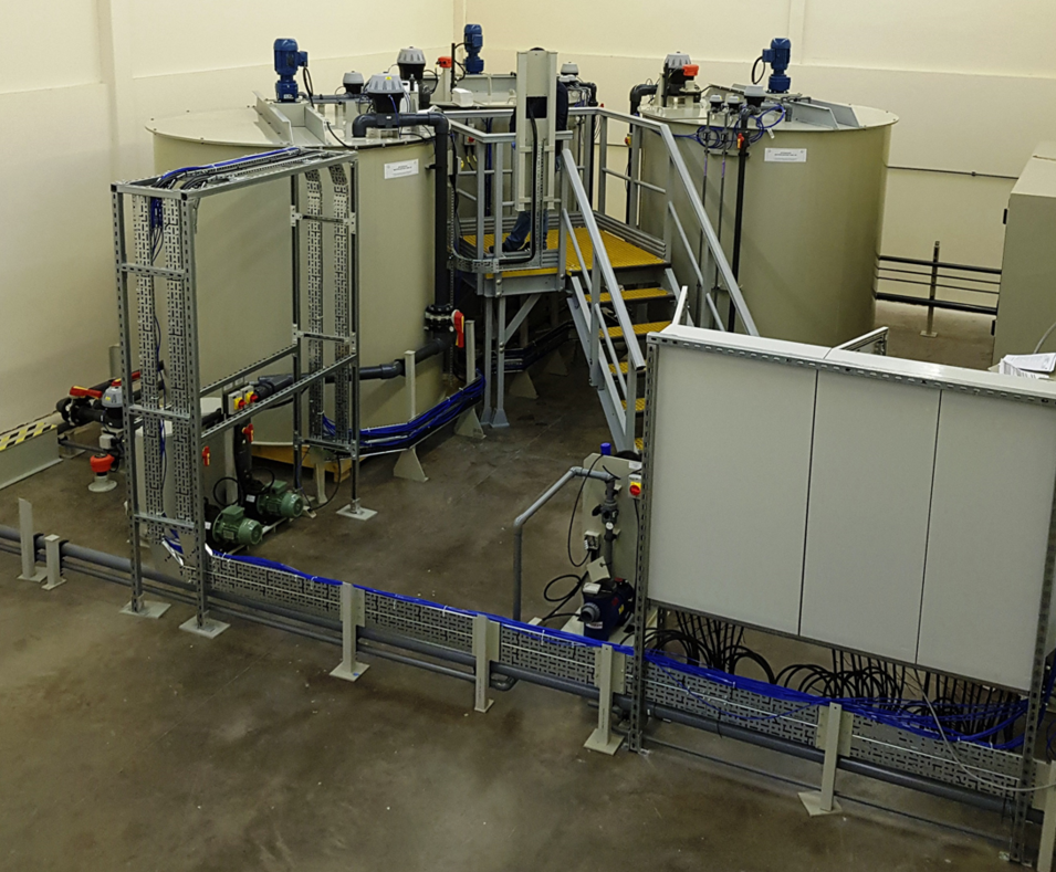 Wastewater treatment plant to treat laboratory liquids