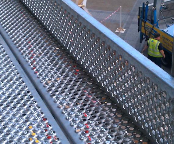 Galvanised steel scaffold planks