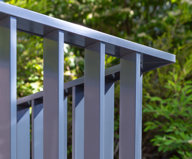 B50 vertical flat bar balustrade