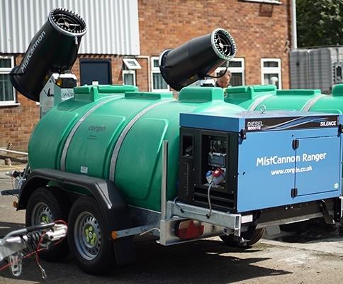 MistCannon Ranger trailer-mounted dust suppressor