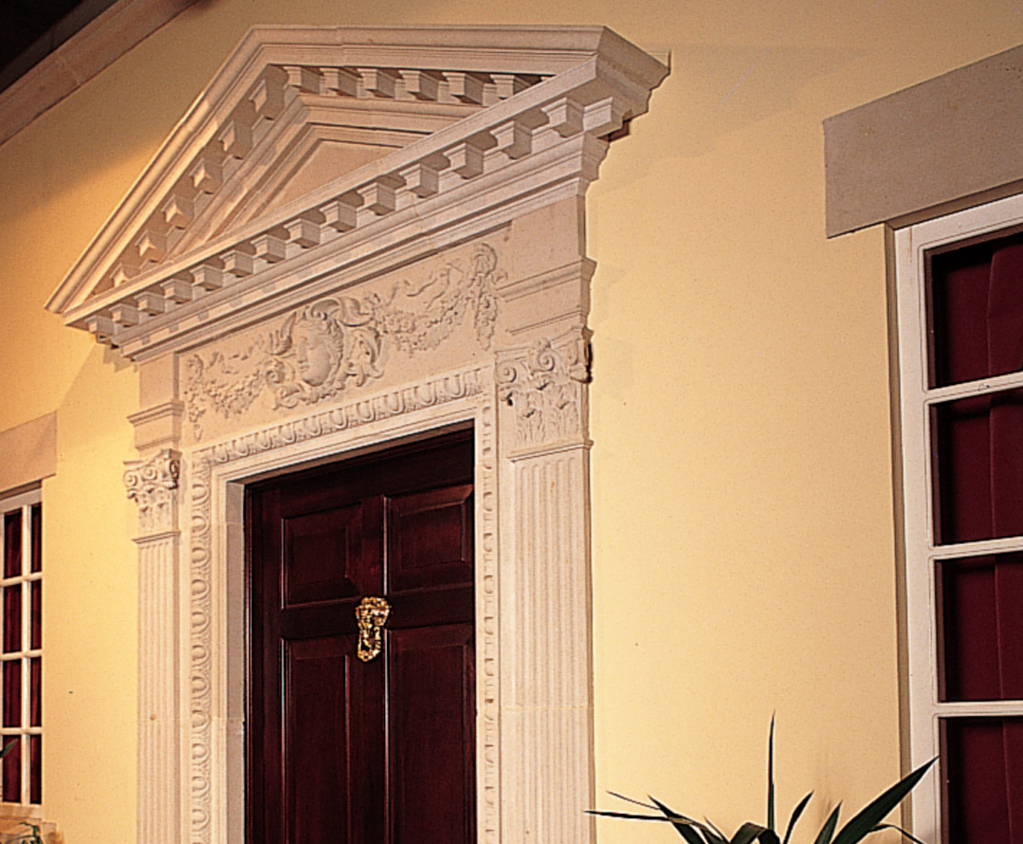 Captivating William Kent Door Surround With Pediment