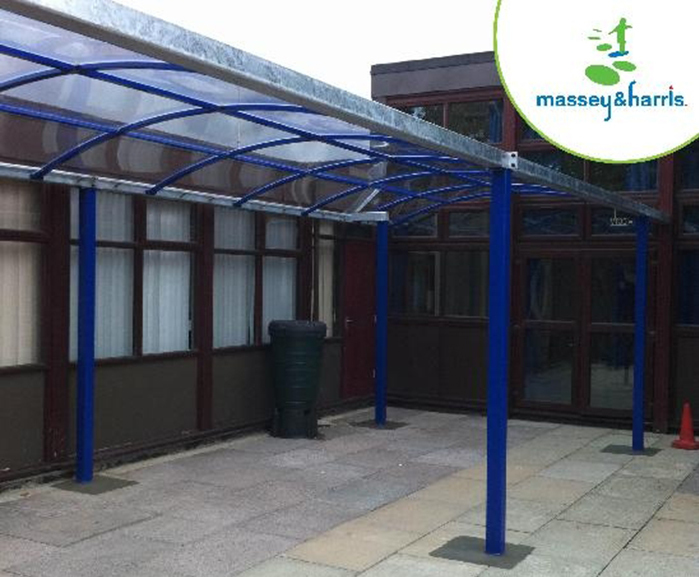 Clear polycarbonate roof canopy & Clear polycarbonate roof canopy | Massey u0026 Harris (Eng) Ltd | ESI ...