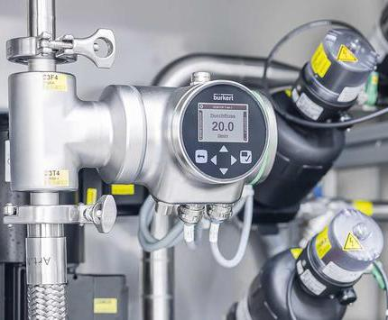 Compact flowmeter for hygienic pharmaceutical processes