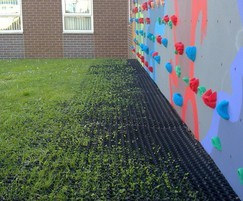 RAPRA-approved rubber grass mats for play areas