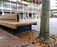 Streetlife Beethoven Bench with Casual Dots Tree Grid