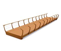 Shortline CorTen Single Bridge with hardwood Solideck®