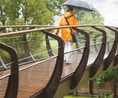 Bridge with CorTen and Wooden Handrail