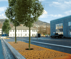 CorTen Strip Grid in Bergen, Norway