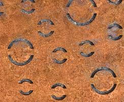 Tree Grilles CorTen Extra Fine Bubbles Detail