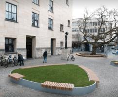 Triangular isles in Heerlen town square